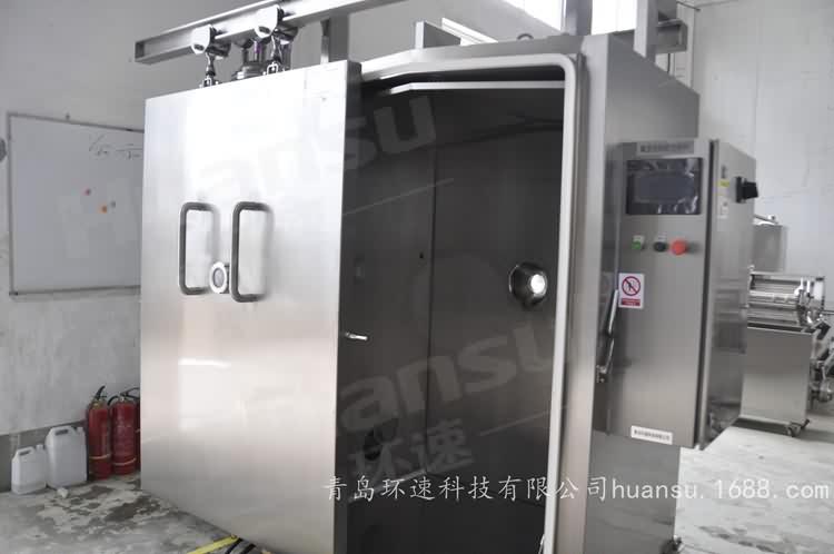 快餐无菌冷却机,产品10~15分钟完成预冷,效率高,安全系数大
