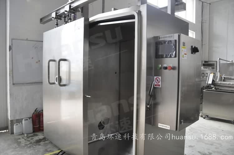 烟熏鸡冷却机,产品10~15分钟完成预冷,效率高,安全系数大
