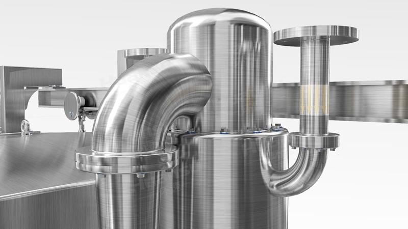 烟熏肉冷却机,产品10~15分钟完成预冷,效率高,安全系数大